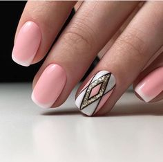 From different styles of manicures to multicolored nails, there are different yet classy designs that can match the clothes and personality of girls. Cute Nails, Pretty Nails, Hair And Nails, My Nails, Nails 2017, Multicolored Nails, Nagellack Design, Nail Swag, Cute Nail Designs