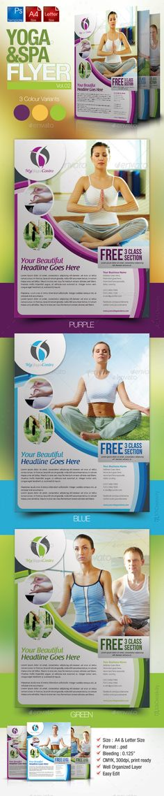 Yoga Flyer Template Psd | Flyer Templates | Pinterest | Flyer