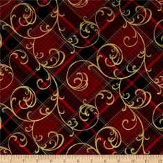 Designed by Color Principle for Henry Glass, this fabric is perfect for quilting, apparel and home decor accents. Colors include shades of red, black, blue, and metallic gold.