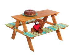 Tavolo con panche per bambini