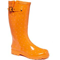 Chooka Women's Shoes, Classic Dot Rain Boots ($65) ❤ liked on Polyvore