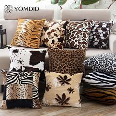 Pillow Case Covers Leopard Style Wild Velvet Material Covers for Cushions Home Decor Cojines Decorativos 43*43 cm #Affiliate