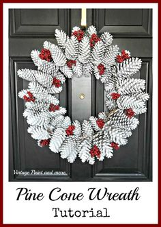 Vintage, Paint and more... Pine Cone Wreath Tutorial