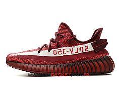 new concept 9cfd1 5ae25 Adidas Yeezy Boost 350 V2 Chaussures de Basket Prix Pas Cher Pour Homme  Rouge DA9568 -