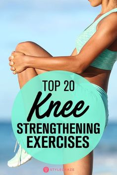 Top 20 Knee Strengthening Exercises: Though rest and medicines work, knee strengthening can speed up the healing process. So, read on to find out which knee strengthening exercises will work for you, how to do them, and what precautions to take. Fitness Home, Fitness Tips, Health Fitness, Enjoy Fitness, Fitness Style, Mens Fitness, Fitness Motivation, Fitness Journal, Fitness Gear