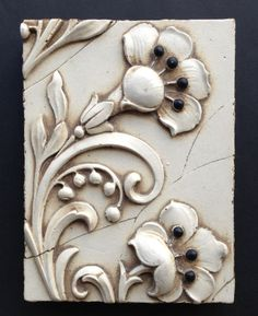 Sid Dickens T65 TAJ FLOWERS   * RETIRED * Glass Ceramic, Mosaic Glass, Ceramic Art, Chip Carving, Terracota, Handmade Tiles, Decoupage Paper, Air Dry Clay, Hand Painted Ceramics