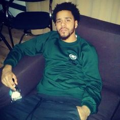 """""""J. Cole in London. """"@RikkiMaa: At Sony in London, showing'm the album. I've heard Cole tell the album's story a handful of times before but cried while hearing it today."""" """""""
