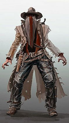 El Chingon, The Soul Walker Steampunk Characters, Sci Fi Characters, Character Concept, Character Art, Concept Art, Westerns, West Art, Cowboy Art, Fantasy Warrior