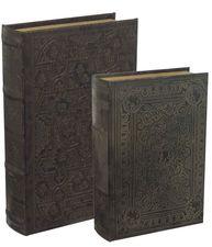 Bokask boklåda bokgömma gammal bok 2 storlekar shabby chic lantlig stil