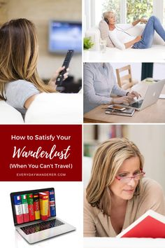 How to cure wanderlust when you can't travel. Sometimes your wanderlust travel has to wait while you build your travel budget, earn another vacation day, or focus on pandemic preparedness and pandemic Travel Reviews, Travel Articles, Travel Info, Travel Tips, Travel Guides, His Travel, Travel With Kids, Flying With Kids, Virtual Travel
