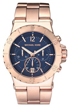 Michael Kors Bel Aire Chronograph Blue Dial Watch $250 - absolutely love the deep blue dial