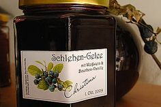 Schlehen - Gelee mit Weißwein & Vanille