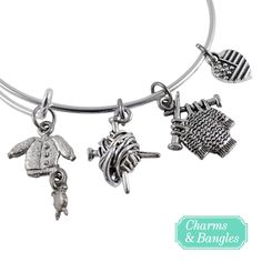 Love Knitting? Check out our Limited Edition Bangle Bracelet http://www.charmsandbangles.com/products/knitting-charm-bangle-bracelet?utm_source=pinterest&utm_medium=promoted_pin&utm_content=us_women_all_keywords&utm_campaign=knitting_lover