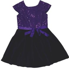 """THE PERFECT PARTY DRESS Sparkle and shine during this holiday season in Florence Eiseman's regal purple sequin studded party dress. Ribbon accent belt and velour twirl skirt make this dress a """"must-have."""" Carousel Children's Clothing, 136 Retreat Plaza, 912.638.3060."""