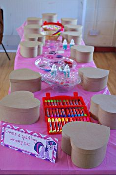 Over 25 craft ideas for my little pony - Smart Fun DIY - # craft ideas . - Over 25 craft ideas for my little pony – Smart Fun DIY – # craft ideas # fun… – Diypro - My Little Pony Birthday Party, Art Birthday, Unicorn Birthday Parties, Sleepover Birthday Parties, Sleepover Party Favors, Kids Pamper Party, Art Party Favors, Pool Parties