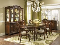Dunleigh Dining Room Group w/China, Home Comfort Furniture. Belfort will meet price and give 10% discount. (3,000.oo- 10%= 2,700.oo)