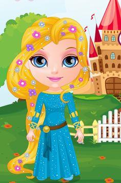 La pequeña #Barbie quiere ser, por un día, una #princesa de cuentoy tiene varios trajes y peinados para #vestir #juegosvestir #juegosdebarbie #juegosdeprincesas http://www.juegos-vestir.net/jugar/bebita-princesa-barbie
