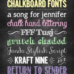 #Chalkboard #fonts