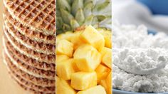 Healthy breakfast combo: whole-grain waffle topped with pineapple and cottage cheese. #breakfastrecipes #healthyeating #healthyrecipes #everydayhealth | everydayhealth.com