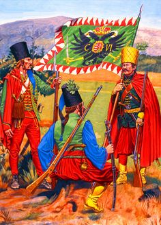 Austrian Slavonian Infantry (Pandurs) (Seven Years War) Les Balkans, Frederick The Great, Seven Years' War, Austro Hungarian, Napoleonic Wars, Illustrations, Modern Warfare, World History, Military History