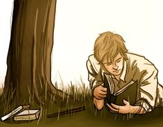 Remus Lupin reading
