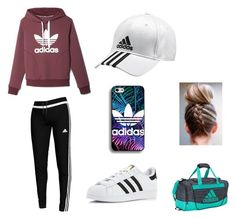 """All adidas"" by mialena1203 ❤ liked on Polyvore featuring adidas"