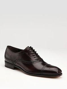 Salvatore Ferragamo Casey Captoe Lace-Ups. No one does a men's shoe like Ferragamo.