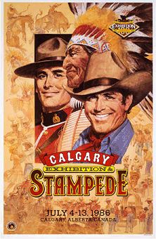 Calgary Stampede poster 1986 - this Is the year my husband and I went to the Stampede. Awesome!