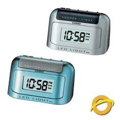 reloj despertador casio dq582 luz led snooze alarma zumbador