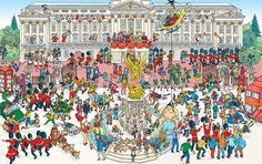 2015 Rugby World Cup Buckingham Palace (Where's Wally Style Image)