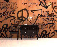 Our Graffiti wall panels bring the street credit indoors #InfusedVeneer #BNIndustries