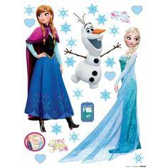 Elsa, Anna and Olaf Wall Sticker Frozen Elsa Olaf, Frozen Elsa And Anna, Elsa Anna, Frozen Cake Topper, Cake Toppers, Disney Frozen Birthday, Princesas Disney, Wall Stickers, Walt Disney