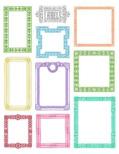 These vintage framed labels are in bright, fun colors and go with everything! Source: World Label