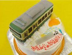 江ノ電、電車ケーキ