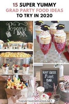 Ready to throw the perfect grad party but don't know what food to serve? You can't disappoint with these graduation party food ideas! Graduation Party Foods, College Graduation Parties, Graduation Celebration, Grad Parties, College Freshman Tips, Disney College, College Hacks, College Graduation Announcements, College Graduation Pictures