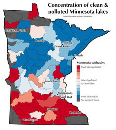 Minnesota's polluted and clean waters, mapped East Grand Forks, Duluth Minnesota, Teaching Science, Minneapolis, Politics, Cleaning, Map, Water, Graphics