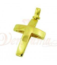 Σταυρός σε κίτρινο χρυσό STM30_029 Symbols, Glyphs, Icons