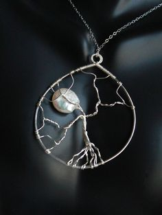 Tree of life Pendant with Chain Sterling by DewdropsLuxeStyle, $50.00