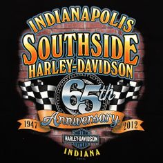 Indianapolis Southside Harley Davidson 65th Anniversary custom back from 2012.