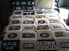 How to Make  a T-Shirt Quilt.  I have pinned this before but this is a good tutorial, so here I go again!