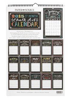 Pleasurable Planning 2014-2015 Wall Calendar