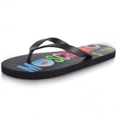 5002d843b145 Moschino Swim Multi Print Flip-Flops. Available now at  www.brother2brother.co