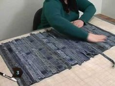 ▶ How to Turn Old Jeans into a Floor Mat - YouTube