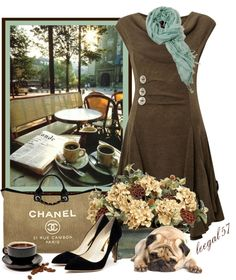 """""""Un Petit Cafe"""" by leegal57 ❤ liked on Polyvore"""