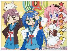 Tags: Anime, Suzumiya Haruhi no Yuuutsu, Lucky☆Star, Izumi Konata, Hiiragi Kagami