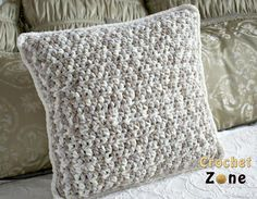 Neutral Crochet Pillow Pattern | AllFreeCrochet.com