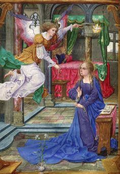 The Annunciation from a Book of Hours, 1524. Courtesy Library of Congress, no further info.