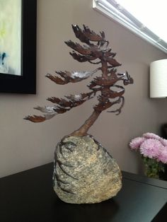 """""""Windswept Pine"""" by Cathy Mark. Newest acquisition. Very happy with this piece :)"""