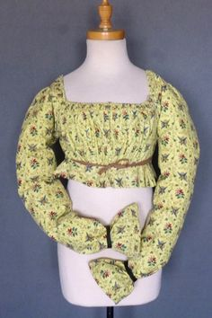 Yellow printed bodice c.1820