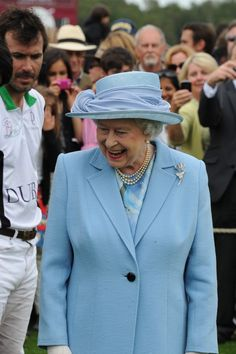 Queen Elizabeth II at the Queen's Cup Polo Tournament hosted by Cartier